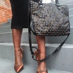 Studded Leather Purse and Wallet